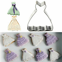 Cake Mold Wedding Dress Princess Gown Cookie Cutter Biscuit Kitchen Baking Tools