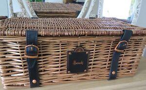HARRODS Wicker Picnic Hamper basket