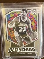 2019 - 2020 Panini Mosaic Old School Magic Johnson Insert Los Angeles Lakers #16