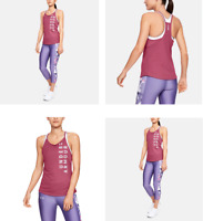 RRP - 29.99£ UNDER ARMOUR Women's UA Speed Stride Wordmark Tank, PINK, SIZE MD