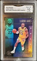 Lebron James 2019-20 Panini Illusions BLACK SAPPHIRE GMA 10 GEM Mint Lakers