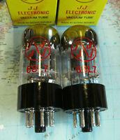 2 Stk Matched pair JJ 6SL7 Dual Trioden NEW Selektiertes Paar 6SL7GT NEU ECC83