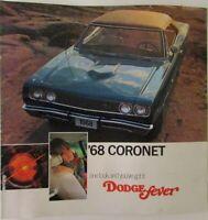 1968 Dodge Coronet R/T 440 Hemi Sales Brochure Color Original Scat Pack