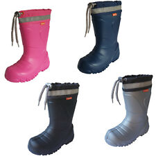 DEMAR MAMMOTH Kids Boys Girls Wellies Rain Wellington Boots Wool-Lined Light