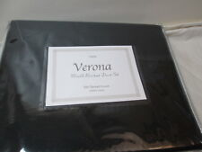 New Verona Twin Black Duvet Cover and Sham Set ~ Wrinkle Resistant Collection