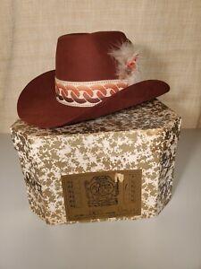 Vintage Beaver Brand Cowboy Hat 10X Beaver Cinnamon Size 7 1/4
