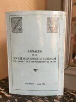 Annales de la Société Scientifique et Littéraire de Cannes Grasse t.XXXVI 1990