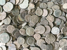 Lot OF 100 Roman Unclean Coins , Perfect round coins & Fully Unclean -Bronze