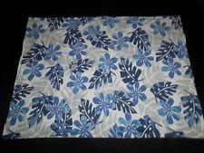 Pottery Barn Kids STD Sham Blue White Gray Hawaiian Leaf Floral