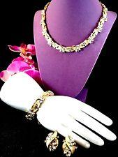 1950'S CROWN TRIFARI 'VERSAILLES' RHINESTONE NECKLACE BRACELET EARRINGS PARURE