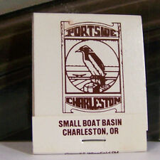 Rare Vintage Matchbook Cover S2 Charleston Oregon Portside Small Boat Basin Bird