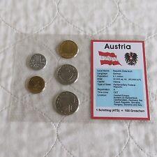 Austria 5 SCHILLING monete pre euro tipo SET-CONFEZIONE SIGILLATA