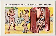 SAUCY POSTCARD - seaside comic, sexy woman bikini camera photography PEDRO #195