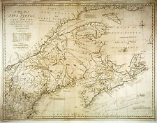 1785 Genuine Antique map of Nova Scotia, Cape Breton. SCARCE. by J. Murray