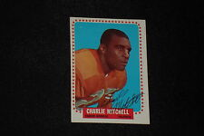 CHARLIE MITCHELL 1964 TOPPS SIGNED AUTOGRAPHED CARD #55 BRONCOS