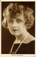 """real photo postcard of """" betty balfour """""""