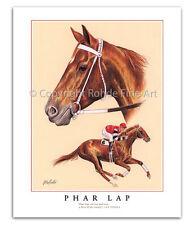 PHAR LAP horse racing racehorse LIMITED EDITION ART Australian champion portrait