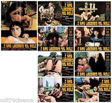 Non Nous Libérer au Male Set Fotobusta 8 + Sogg. Film Horreur 1971 Satan Lobby