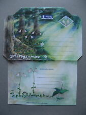 FINLAND Aland,  ill. postage paid aerogramme 1996 , mint, forest tree flower