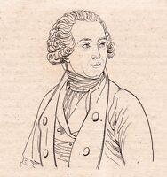 Portrait XIXe Antoine Laurent de Lavoisier Chimie Chimiste 1821 Chemistry