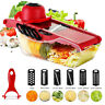 9PCS Steel Mandoline Slicer Blades Kitchen Vegetable Food Cutter Container