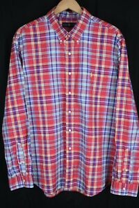 Ralph Lauren Mens sz XXL Bright Multi Color Plaid Long Sleeve Btn up Shirt