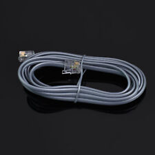 7 Ft feet Rj11 6P6C Modular Telephone Extension Cable Phone Cord Line Wire Gray