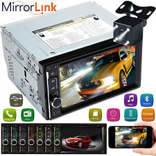 2Din 1080P USB SD Radio Car Stereo Receiver Audio Bluetooth Mirror Link For GPS