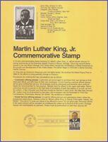 USA #1771 U/A SOUVENIR PAGE FDC   Martin Luther King Jr. Black Heritage