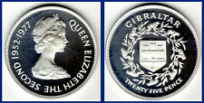 25 SILVER NEW PENCE /25 NUEVOS PENIQUES PLATA. 1977. GIBRALTAR. PROOF.