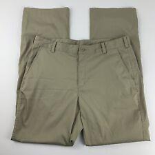 Nike Gold Mens 34 X 32 Tan Pants Dry Dri Fit Pockets Sport Outdoors Athletic