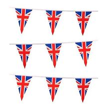 GIANT 70ft Union Jack Bunting 50 Flags GB Britain Royal Street Party Decorations
