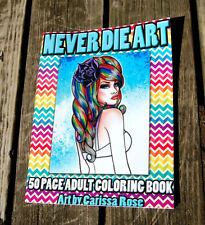 Adult Coloring Book | 50 Pages | Pin Up Girls, Tattoo Flash, and Day of the Dead