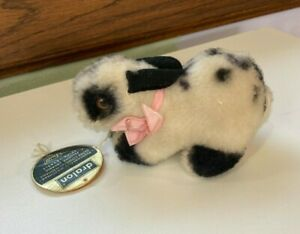 Small Steiff Bunny Rabbit With original Paper Tag Dralon 5 inches long