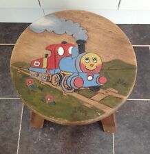 Vintage Childs  (Thomas) Steam Train tank engine carved/painted top wooden stool