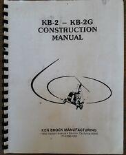 New listing Kb-2 Kb-2G Const Manual/Subaru Ea81 Engine Manual for Bensen & Brock Gyroplanes.
