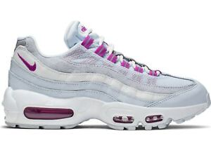 Women's Nike Air Max 95 HYPER VIOLET PINK FOOTBALL GREY WHITE 307960-023 Running