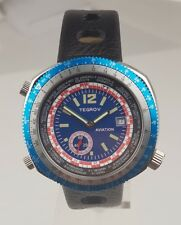 Tegrov automatic watch tachymeter scale blue version new unworn