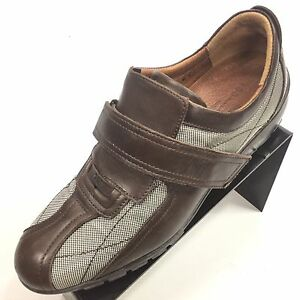 DONALD J PLINER Sport Travel Brown Leather 8M Fashion Sneaker Made in Italy NEW