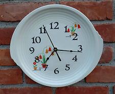 Edwin Knowles Vintage Yorktown Shape Flower Pots Large Custom Made Plate Clock