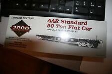 Proto 2000 Aar standard 50 ton flat car kit ho scale Western maryland