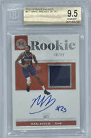ROOKIE! 2018-19 Mikal Bridges Panini Encased Auto/RC/JERSEY! X/99!  BGS 9.5/10!