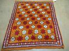 4' X 5' Vintage Hand Made Moroccan Tribal Wool Rug Carpet STARS SNOW FLAKE Nice