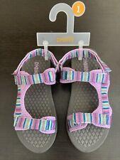 New GYMBOREE Girls River Sandals Shoes Strappy Lavender Purple Rainbow Size 1
