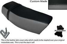 BLACK & GREY CUSTOM FITS SUZUKI DR 400 S 80-82 DUAL LEATHER SEAT COVER