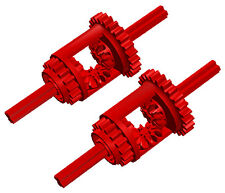 2 Lego RED differentials (technic,car,truck,gear,mindstorms,nxt,axles,bevel,ev3)