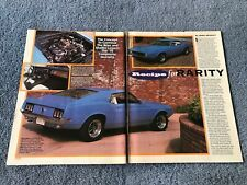"1970 Ford Composite Mustang Vintage Info Article ""Recipe for Rarity"" Boss 429"