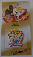 Disney 100 Years of Dreams #43 Cinderella 1950 Pin