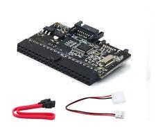 2 WAY 40 broches IDE vers SATA ou SATA à IDE Adaptateur Convertisseur + câbles gratuit uk