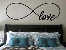 LOVE INFINITY ROMANTIC Wall Lettering Words Decal Vinyl Quote Sticker Decor 24""